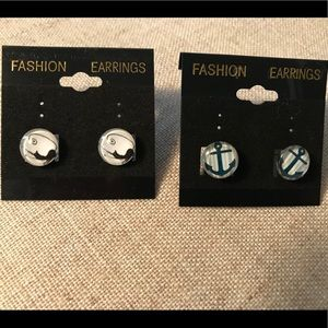 Cat and Anchor Earrings